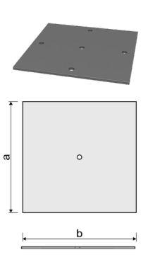 Пластина для железобетонной сваи 250x250