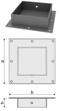 Оголовок для железобетонной сваи ОС-ПРО 250x250